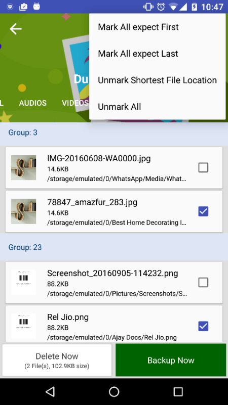 Android App Duplicate Files Fixer Review Auto Mark