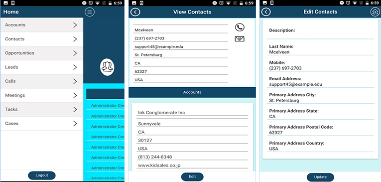 Free SuiteCRM Mobile CRM App FyNCRM for Android & IOS