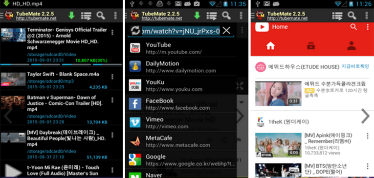 Best Video Downloader Apps for Android TubeMate