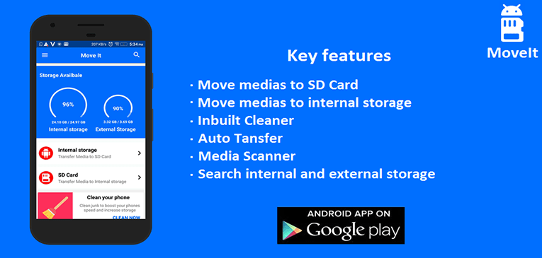 Movelt app for Android