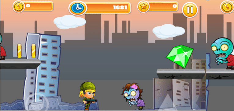 Zombie City Defender for Android adventure in Zombie Land
