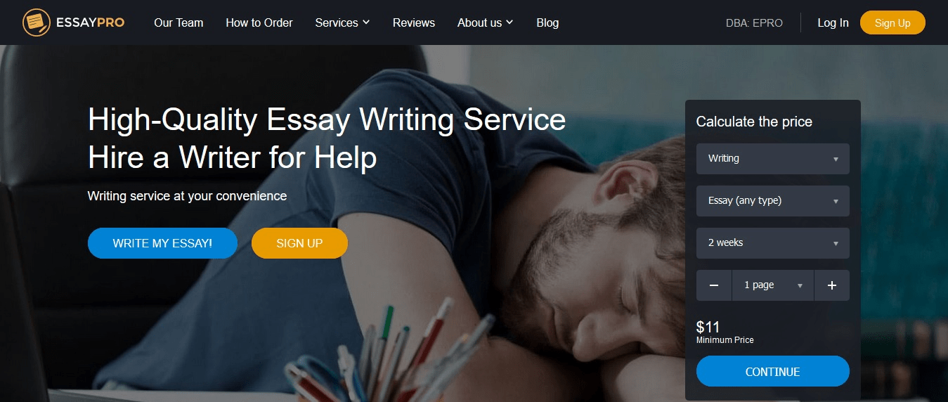 EssayPro – Professional Writing Help Services App Review