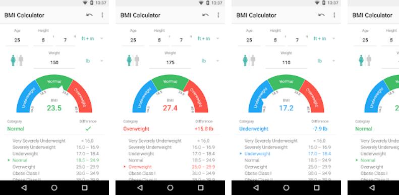 Appovo BMI Calculator