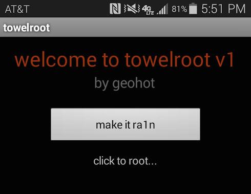 towelroot - root for verizon galaxy s5