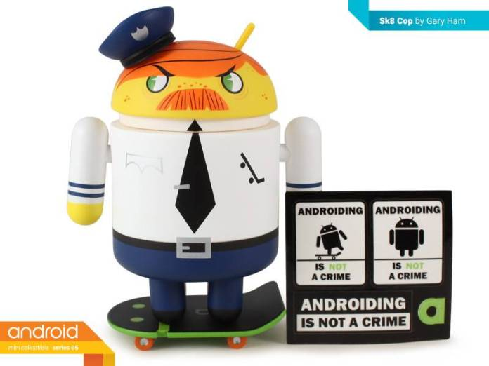 Android SK8 Cop by Gary Ham