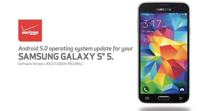Android 5.0 Lollipop Samsung Galaxy S5