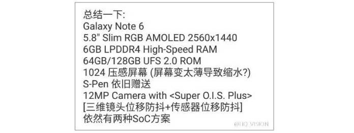 Samsung Galaxy Note 6 MWC 2016