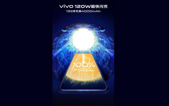 VIVO 120 battery fast charging