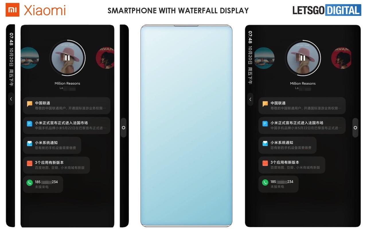 Bằng sáng chế cho thấy điện thoại Xiaomi có màn hình thác nước và camera dưới 1