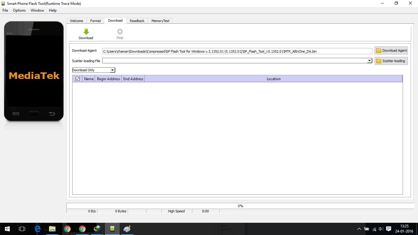 Sp Flash tool screen shot