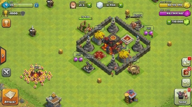 Private server of Clash of Clans