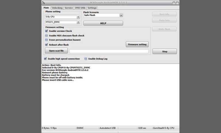 Скачать NCK Dongle AndroidMTK 2.5.6.2 с загрузчиком