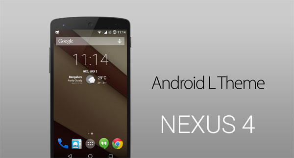 Тема и приложения Android L Mod System для Nexus 4