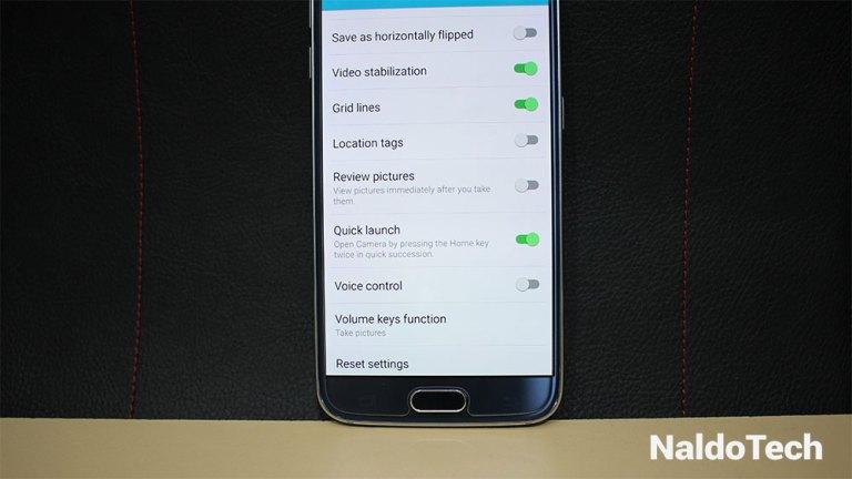 Как отключить быстрый запуск камеры Galaxy S6 (ярлык кнопки «Домой»)