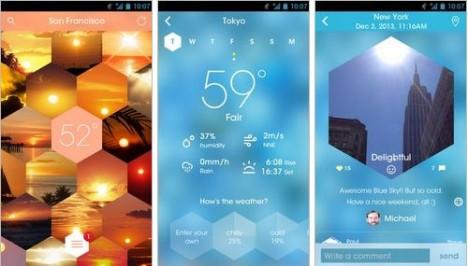 Sunnycomb para ver estado del clima en Android