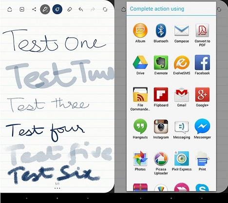 compartir bloc de notas en Android