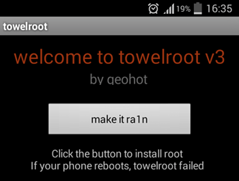 Root un Android con Towelroot