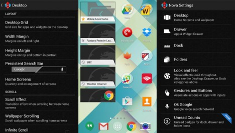 Descarga Nova Launcher desde Play Store