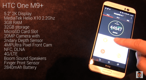 Especificaciones del HTC One M9+