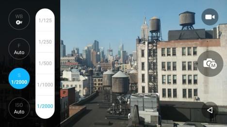 Aplicación de la cámara de fotos en el Alcatel Idol 3