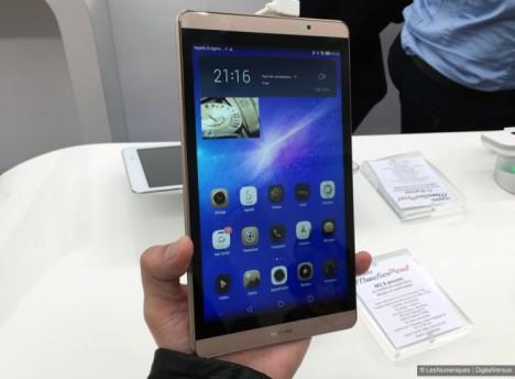 Vista frontal del Huawei MediaPad M2