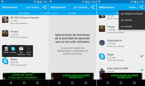 Desinstalar Aplicaciones Android con Unused App Remover