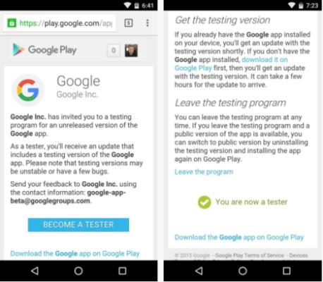Descargar Beta de Google Search