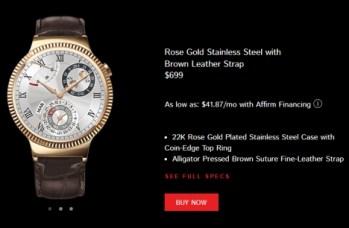 01 Rose Gold Huawei Watch