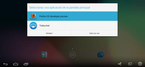 Selector de Launchers con Firefox OS