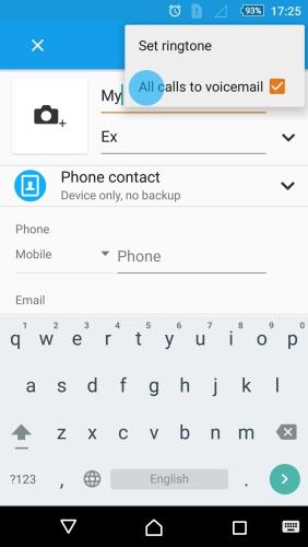 Impedir mensajes de un usuario al buzon de llamadas
