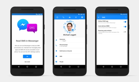 Facebook Android con Messenger y Chat