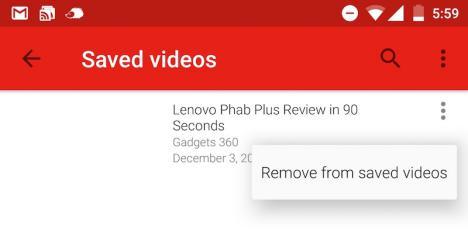 Videos de YouTube offline en Android