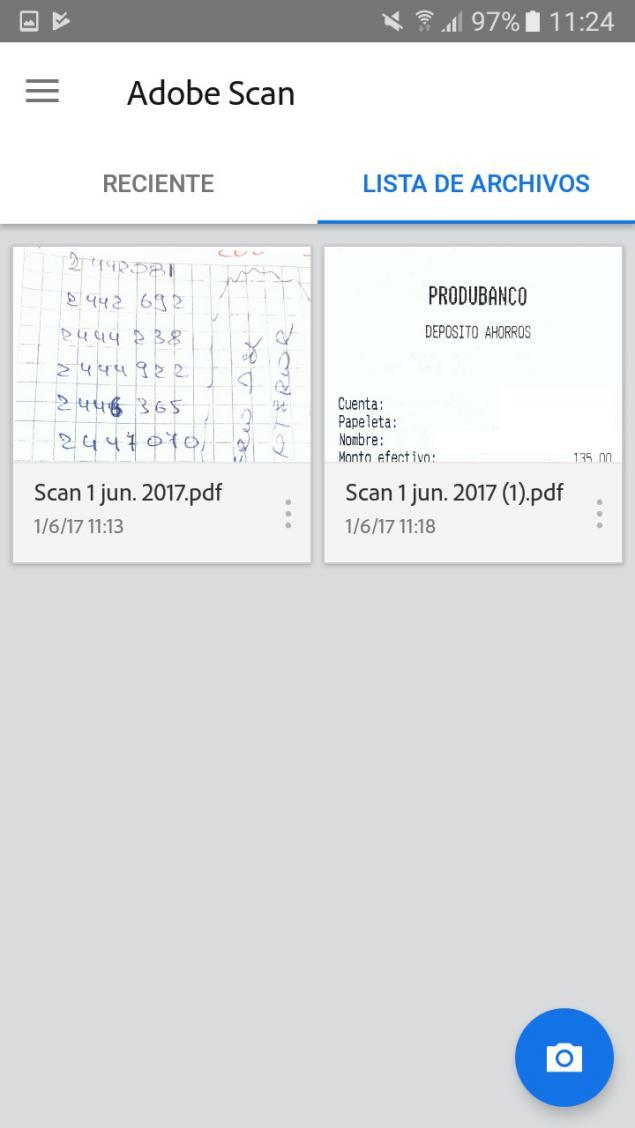 Adobe Scan escanear documentos