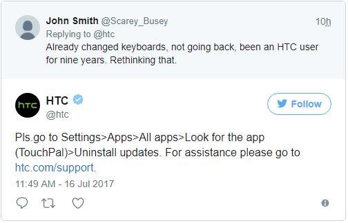 teclado HTC