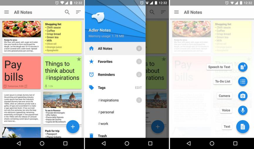 Alder Notepad como alternativa a Google Keep