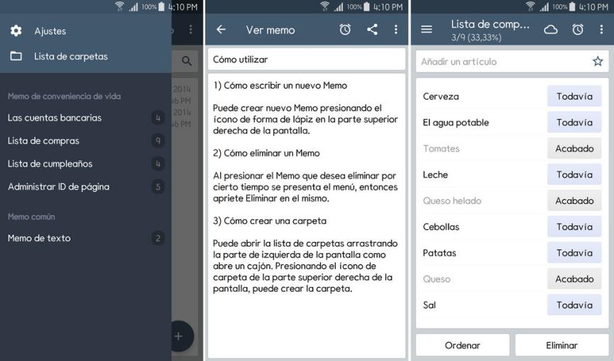 ClevNote como alternativa a Google Keep