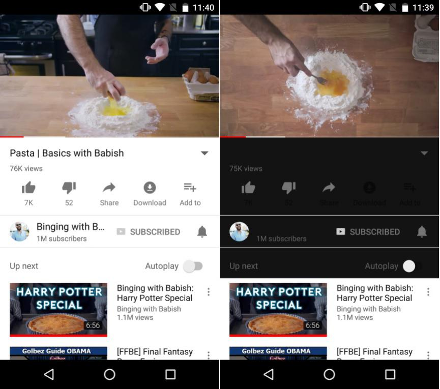Modo Oscuro en YouTube
