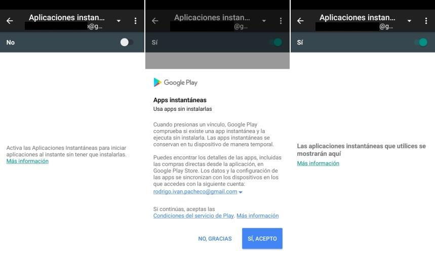 como usar las Aplicaciones Instantanea en Android