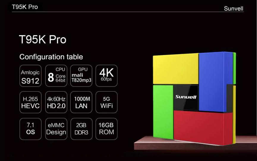 Sunvell T95K TV Box Android barato especificaciones