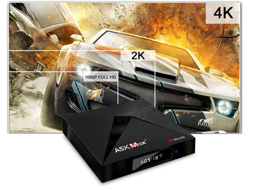 TV Box Android A5X MAX Plus videos 4k