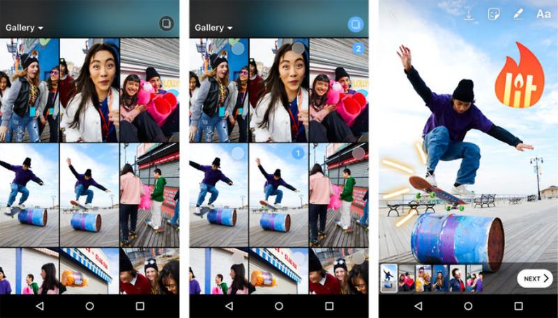 seleccion multiple para Historias de instagram