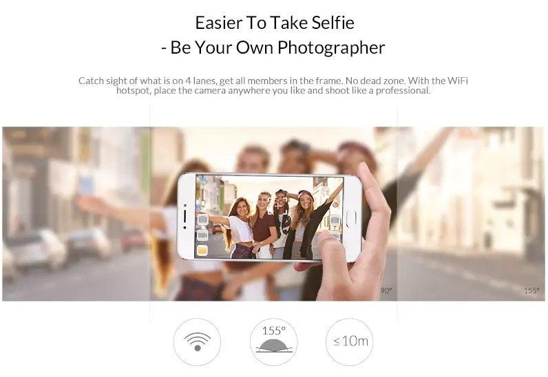 Quelima SQ13 gadget para android grabar video estables