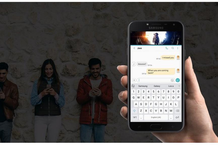 Un Samsung Galaxy J4 aparecer por menos de $200 en tiendas minoristas