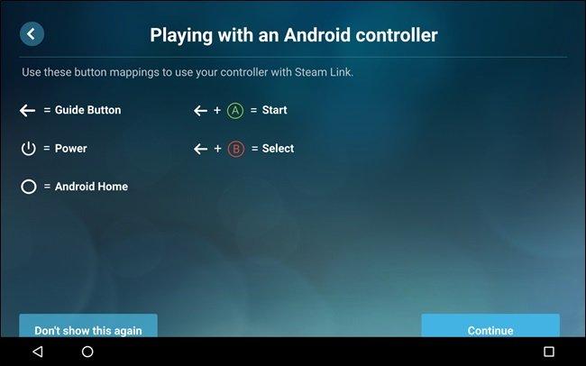 configurar Steam Link en Android