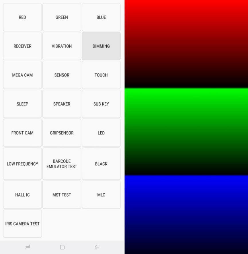 probar oscurecimiento de pantalla Samsung Galaxy