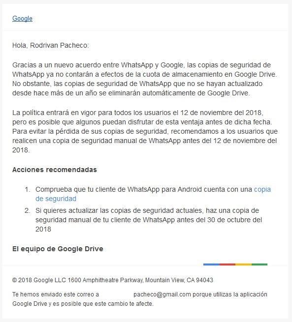 Como hacer una copia de seguridad WhatsApp Android