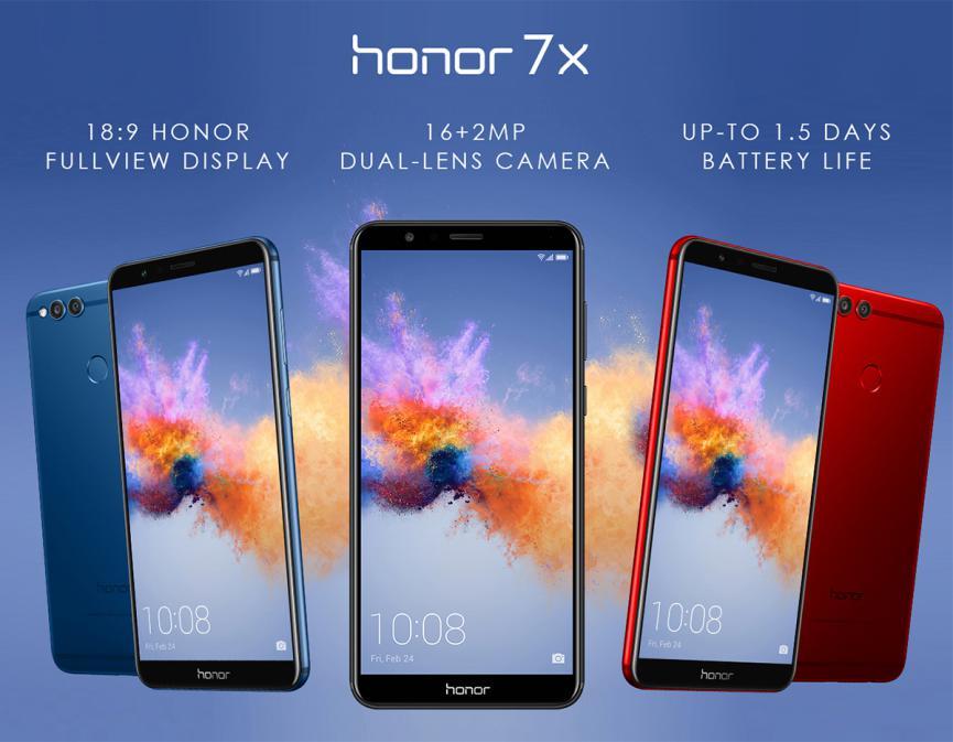 especificaciones del Honor 7X barato