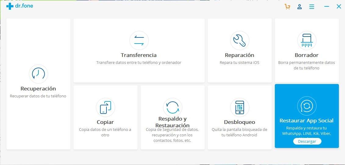 Restaura Redes Sociales en Android