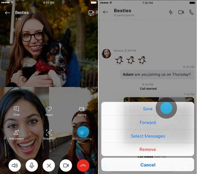 Grabar videollamadas con Skype en Android