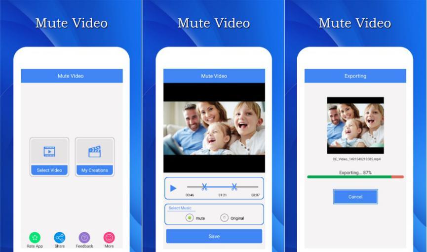 Quitar Sonido de Videos en Android con Mute Video